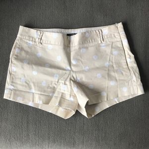 J.Crew Khaki Polka-dot Shorts
